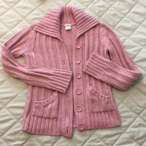 Pink button up sweater